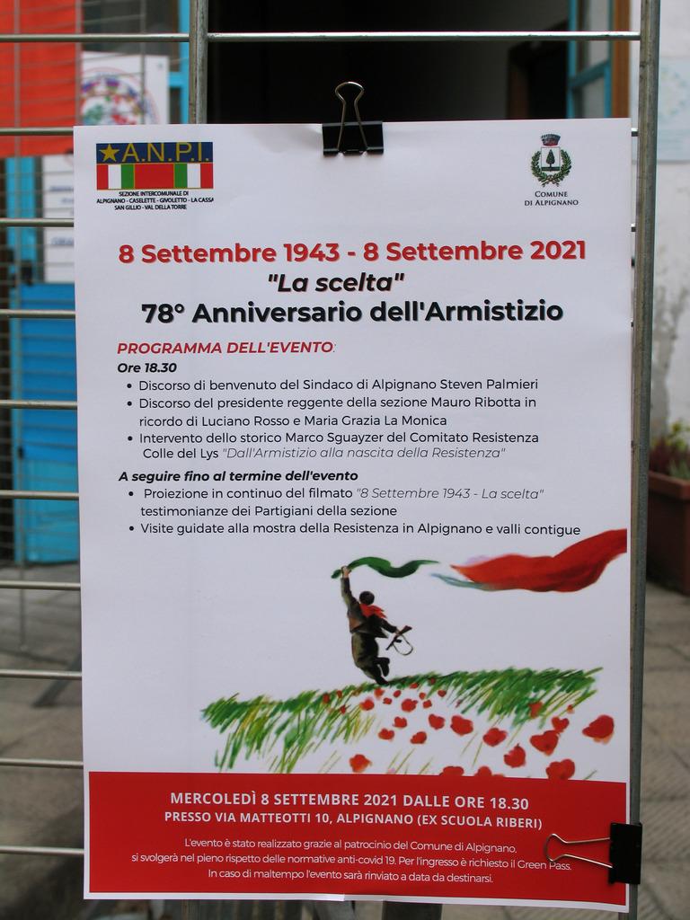 locandina 8 settembre 1943- La Scelta